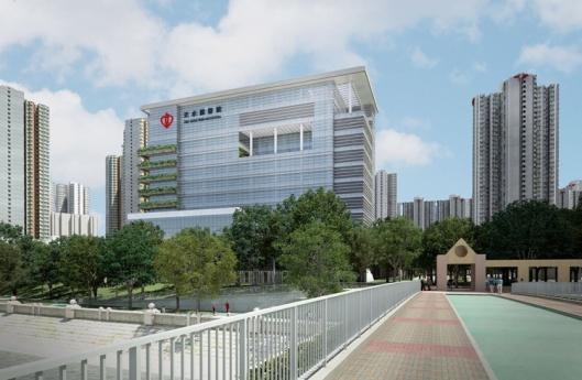 Tampak Bangunan Rumah Sakit dari samping