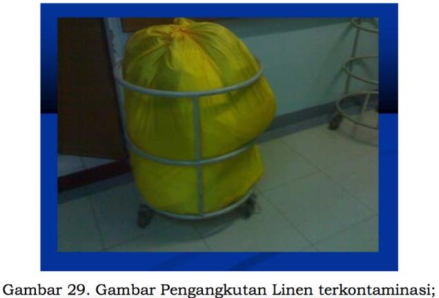 Gambar Pengangkutan Linen Terkontaminasi